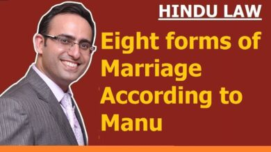 FAMILY LAW -HINDU LAW #10 || Eight forms of Marriage according to Manu