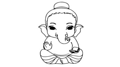 How to draw ganesh | Drawing of God Ganesha  | step by step