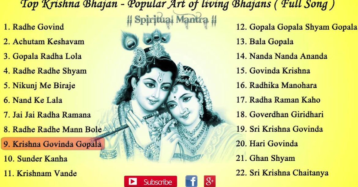 Krishna Bhajans - Popular Art of living Bhajans ( Full Songs ) || Achutam Keshavam || Hari Govinda