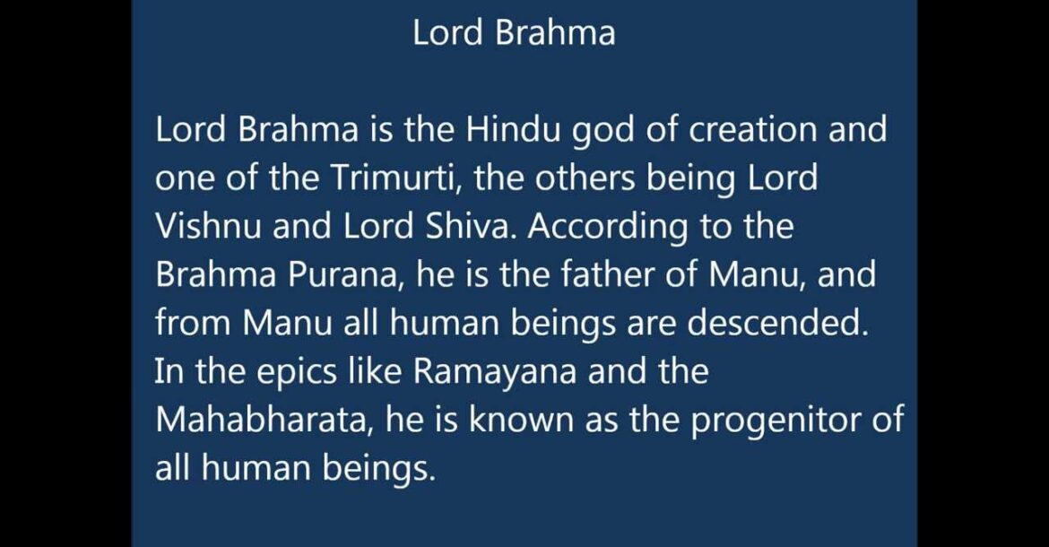 Lord Brahma Names for Indian Baby Boys