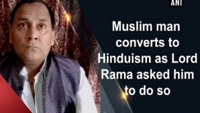 Muslim man converts to Hinduism as Lord Rama asked him to do so