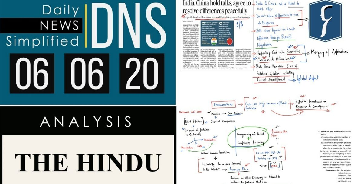 THE HINDU Analysis, 06 June 2020 (Daily News Analysis for UPSC) – DNS