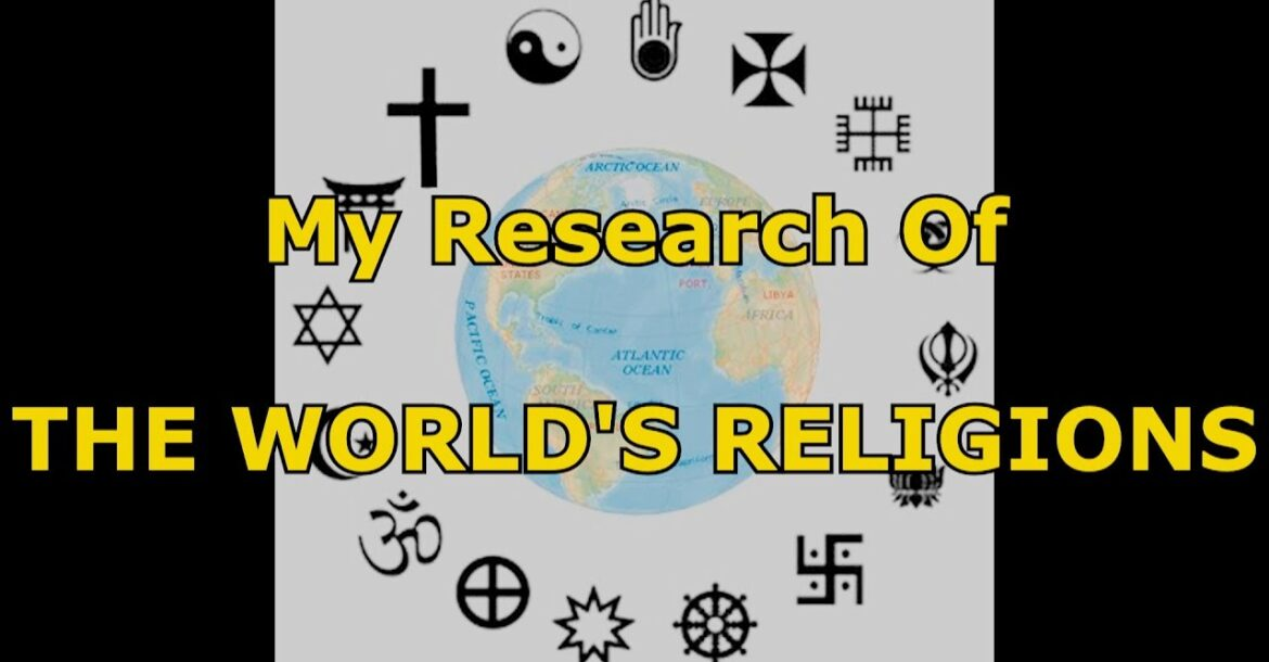 The World Religions Christianity Islam Hinduism Buddhism Voodoo Toaism Judaism compared vs Atheist