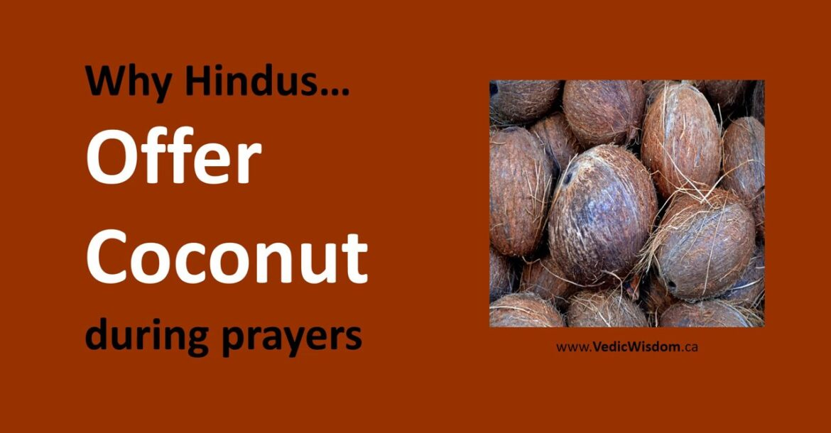 Why Hindus offer Coconut during prayers