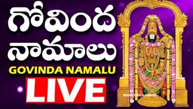 గోవింద నామాలు తెలుగులో | Govinda Namalu Full with Telugu Lyrics | Bhakthi Channel