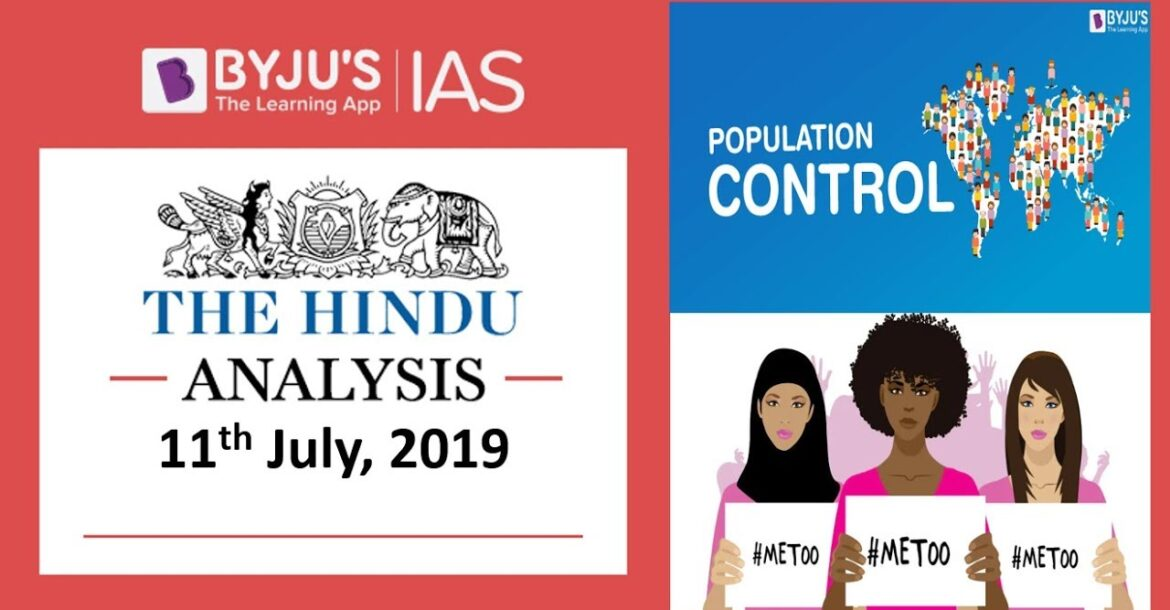 'The Hindu' Analysis for 11th July, 2019 (Current Affairs for UPSC/IAS)