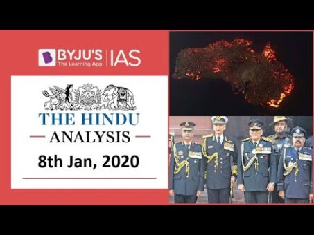 'The Hindu' Analysis for 8th Jan, 2020. (Current Affairs for UPSC/IAS)