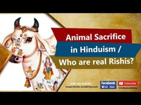 Animal Sacrifice in Hinduism   Who are real Rishis