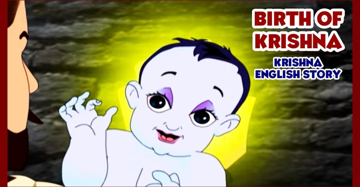 Birth of Krishna - Krishna Story In English | Krishna Cartoon | Little Krishna | English Kids Story