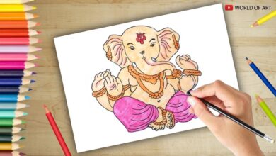 Ganesh Chaturthi drawing God Ganesha