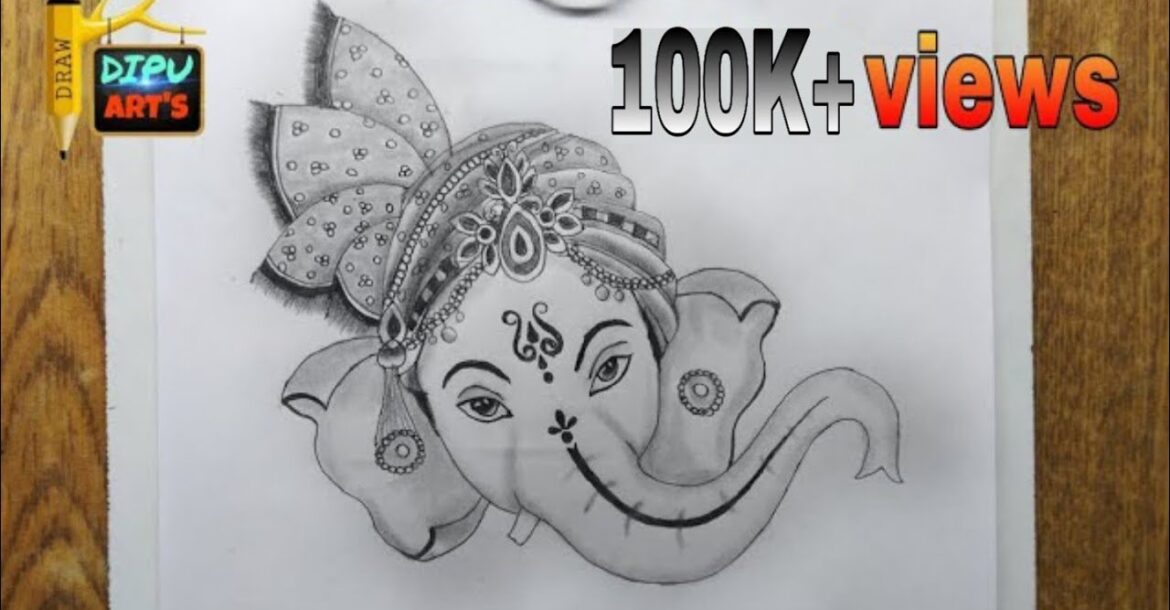 Ganpati bappa Draw easy part-(1) / god ganesh ji ka Drawing/ Lord ganesha Drawing