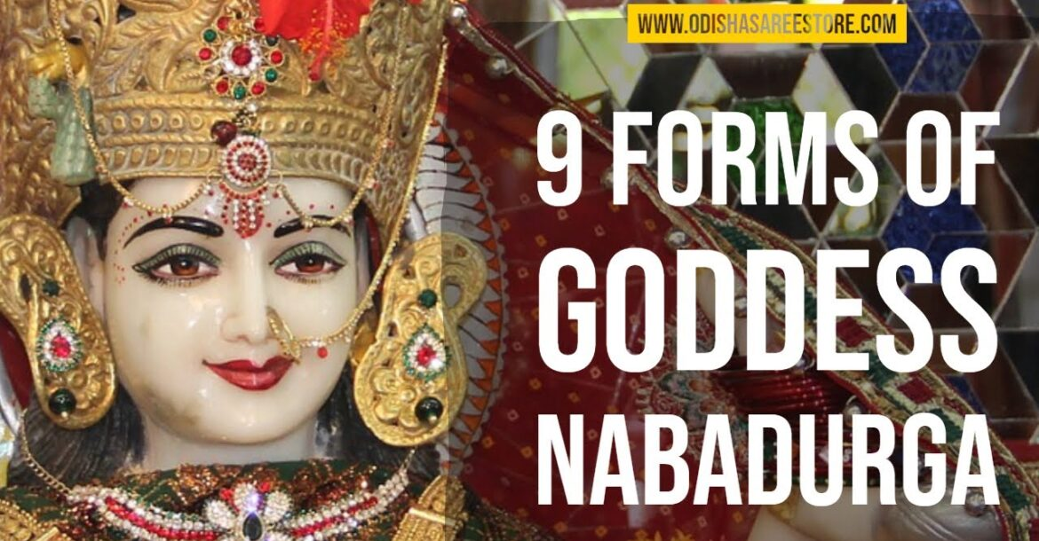 Goddess Navadurga( Nine forms of Hindu Goddess Durga)