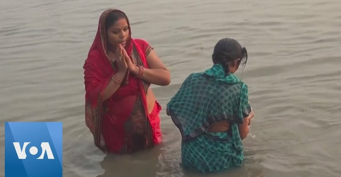 Hindu Devotees Take Holy Dips On Special Full-Moon Day