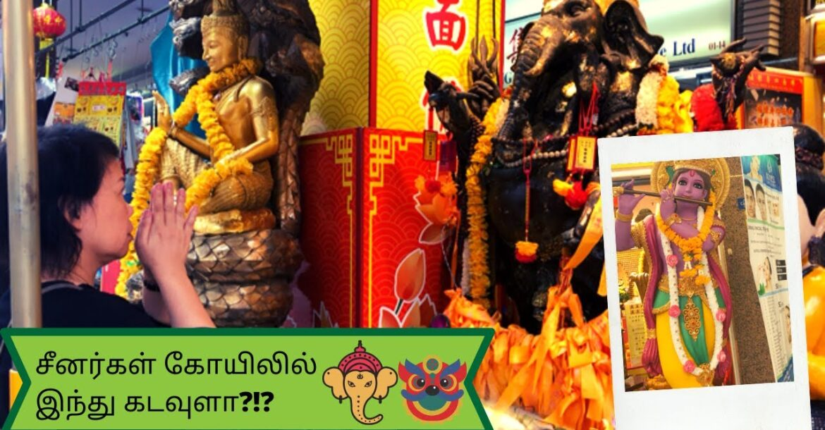 Hindu Gods in Chinese Temple ?!?😮 🕉 😮|| Tamil vlog || Chinese temple in Singapore