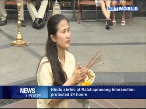 Hindu Shrine at Ratchaprasong Intersection Protected 24 Hours