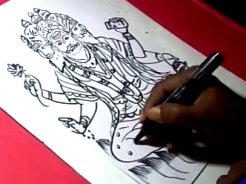 How to Draw LORD BRAHMA DRAWING step by step