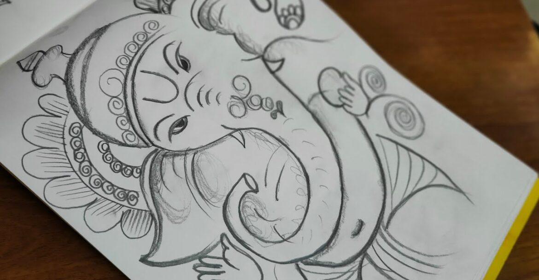 How to draw Ganesha|Easy Ganesh Drawing|Ganesh Chaturthi Drawing|Pencil Drawing|Ganesh Drawing