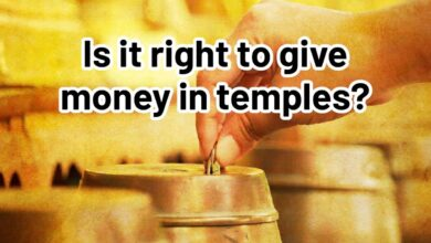 Is it right to give money in temples?