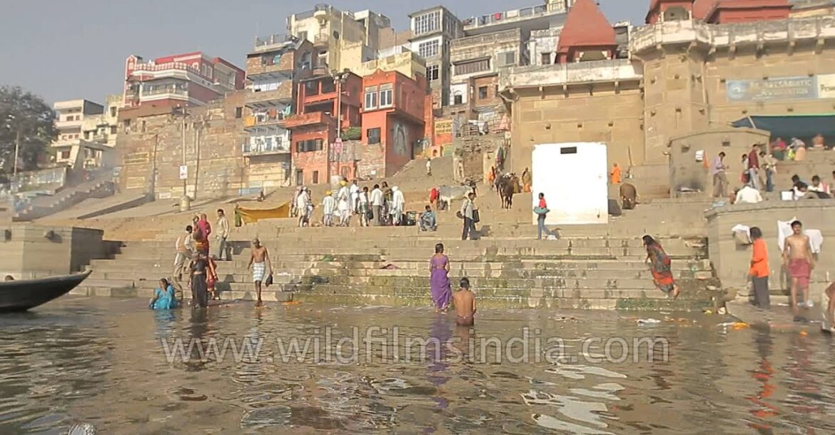 Morning view from the Ghats of Varanasi