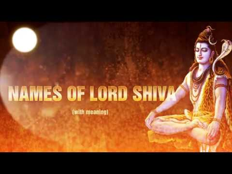P to S Popular names of Lord Shiva