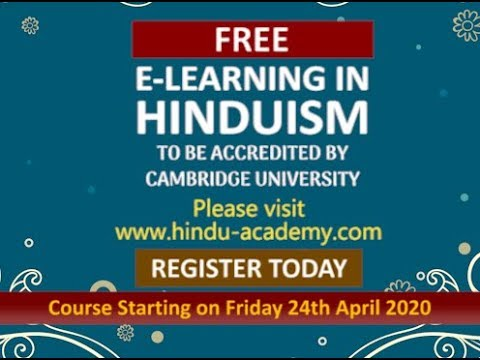 Register Today for FREE e-learning course in Hinduism