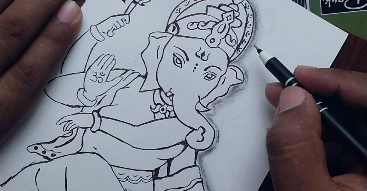 how to draw God Ganesha Drawing easy for beginners / Ganesh Chaturthi special drawing