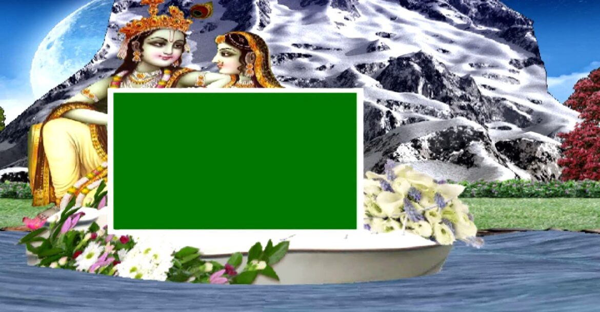 Wedding Green background screen Hindu  effect HD video 3D