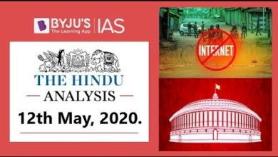 'The Hindu' Analysis for 12th May, 2020. (Current Affairs for UPSC/IAS)