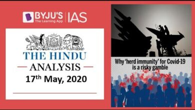 'The Hindu' Analysis for 17th May, 2020. (Current Affairs for UPSC/IAS)