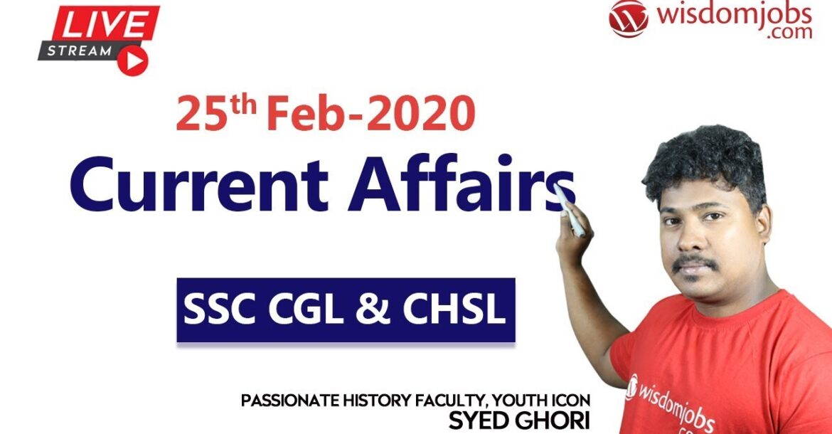 Daily Current Affairs 2020 Analysis|The Hindu Current Affairs LIVE @ Wisdom jobs|25 February 2020