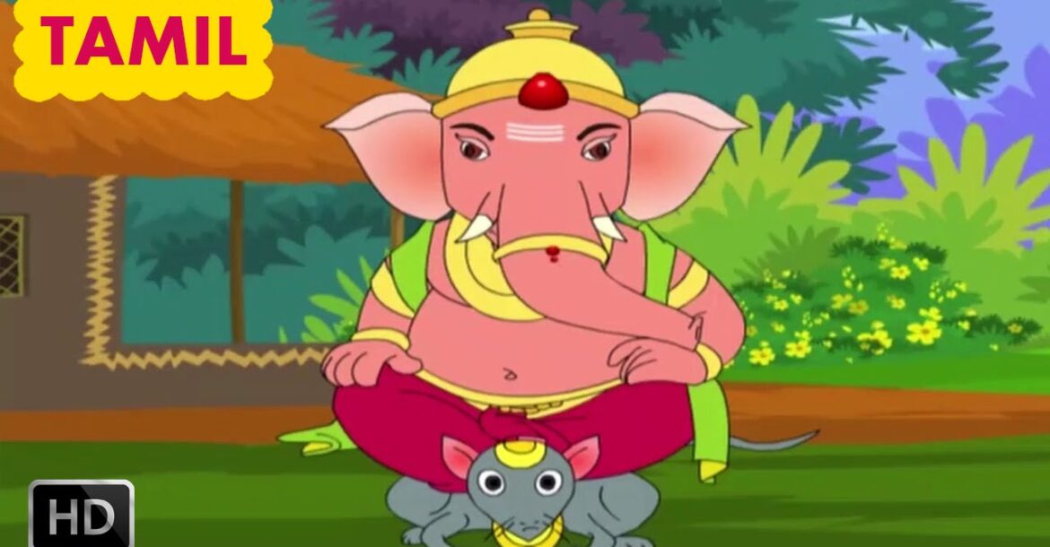 Ganesha Stories for Children - Animated Cartoons - Rescue of the Gods - Tamil Kids Stories