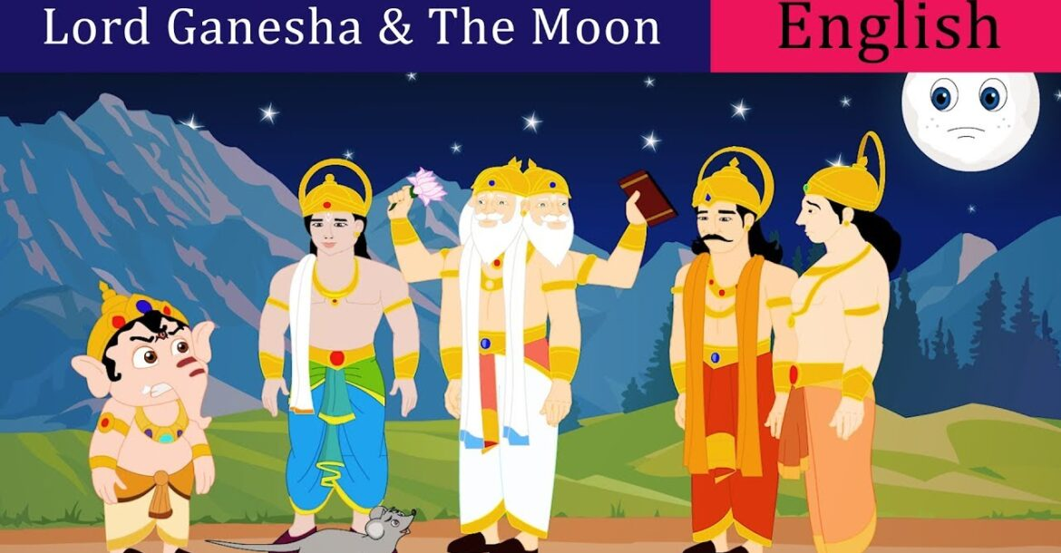 Ganesha and The Moon Story in English | Lord Ganesha Stories For Kids | English Story