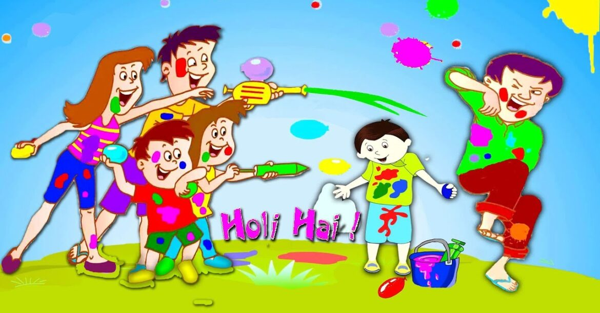 Holi Festival Of Colors | Dum Dum Nursery Rhymes Song for Children by Ultra Kids Zone