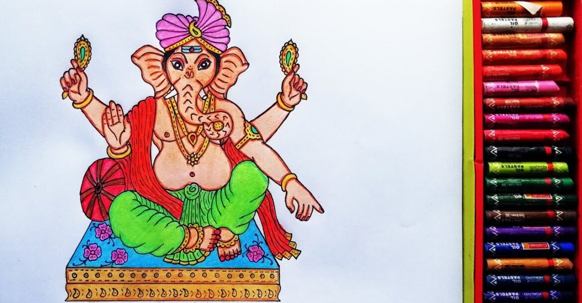 How to Draw Baal Ganesha   Painting Of God's Ganesh Ji   Drawing Of  God Ganesha   By Drawing Art