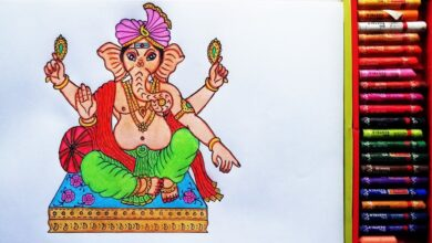 How to Draw Baal Ganesha | Painting Of God's Ganesh Ji | Drawing Of  God Ganesha | By Drawing Art