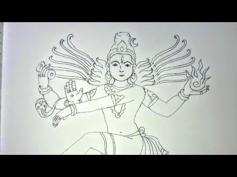 How to draw Nataraja |  Dancing Shiva |  step  by  step  |  easy
