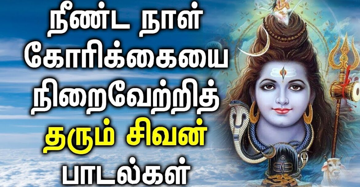 LORD SHIVA WILL SUPPORT ALL YOUR EFFORTS | Lord Shiva Padalgal | Best Tamil Devotional Songs