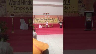 Lomba Bercerita menggunakan Bahasa Sanskerta dalan World Hindu Wisdom Meets 2019