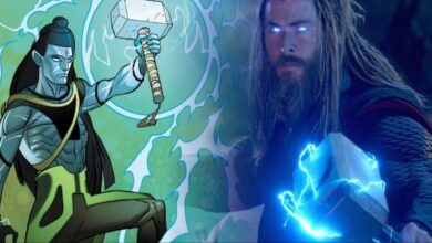 Lord Shiva in marvel holding thor's mjolnir , guardians of the galaxy vol 3 script change in hindi