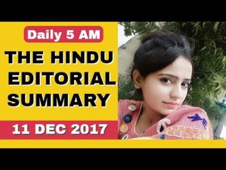 THE HINDU EDITORIAL SUMMARY  11 DEC 2017