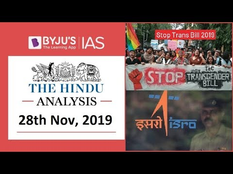 'The Hindu' Analysis for 28th November, 2019 (Current Affairs for UPSC/IAS)