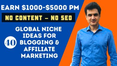 40 Niche Ideas for Blogging & Affiliate Marketing - Earn Up to $5000 (No SEO - No Content)