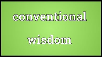 Conventional wisdom Meaning