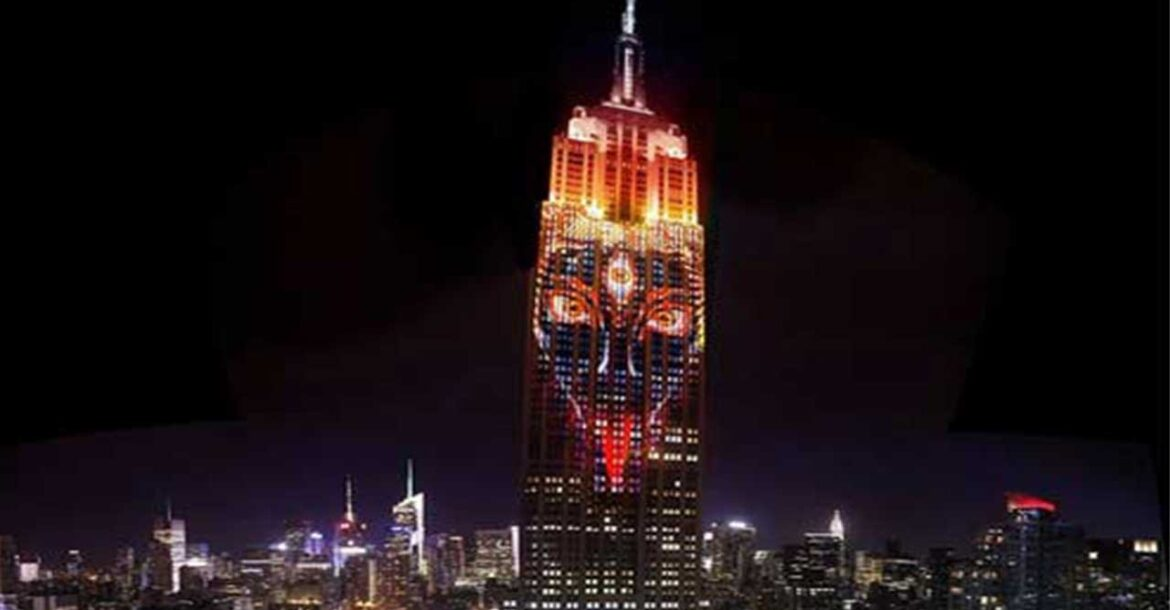 Goddess Kali seen in New York's Empire State building