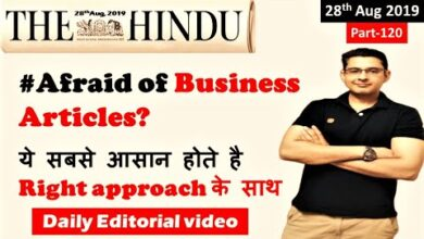 Learn English through Newspaper- The Hindu Business Article Today 28 August 2019