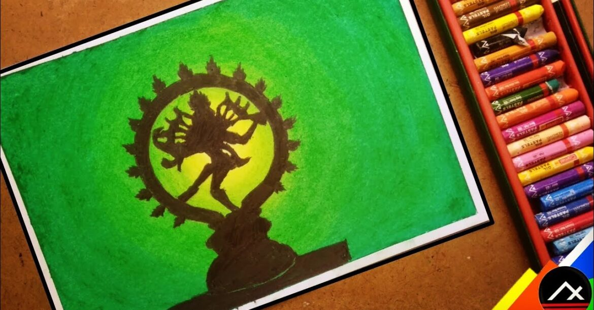 Nataraja Drawing With Oil Pastel Step By Step    Lord Shiva