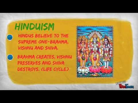 THE CREATION STORY OF HINDUISM AND BUDDHISM
