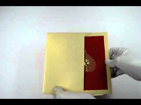 6000, Gold Color, Shimmery Finish Paper, Hindu Cards, Hindu Wedding Cards, Hindu Wedding Invitations