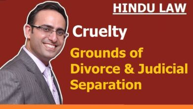 FAMILY LAW - HINDU LAW #18    Cruelty    Grounds of Divorce and Judicial Separation (Video-3)
