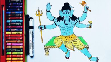 How To Draw Lord Ganesh ji | Ganesh ji ki Drawing | by Drawing Art